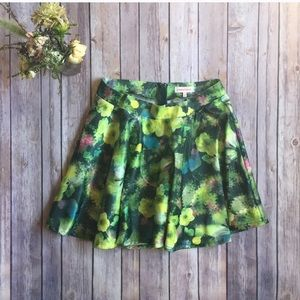UO Urban Outfitters Nameless Floral Flair Skirt